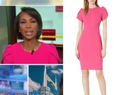 harris faulkner, outnumbered, hot pink dress