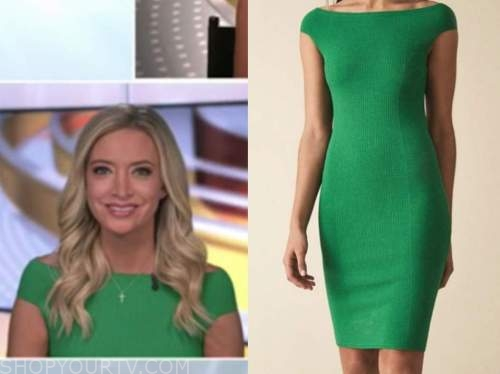 Kayleigh McEnany, outnumbered, green knit dress