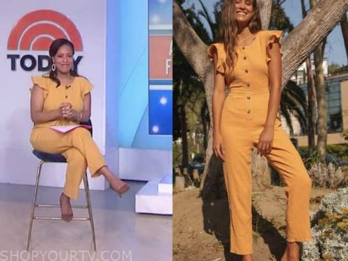 sheinelle jones, the today show, yellow jumpsuit