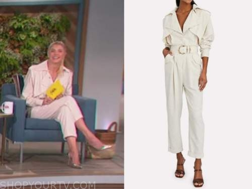 amanda kloots, the talk, ivory jumpsuit