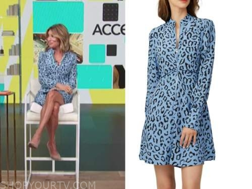 kit hoover, access daily, blue leopard dress