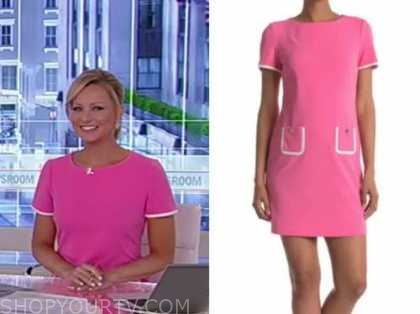 america's newsroom, sandra smith, hot pink dress