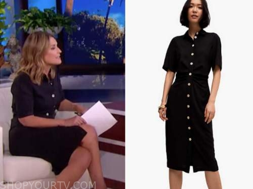 savannah guthrie, black shirt dress, the today show, the ellen show