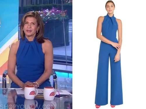 hoda kotb, the today show, blue halter jumpsuit