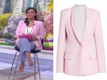 sheinelle jones, the today show, pink blazer