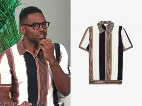 justin sylvester, E! news, daily pop, striped knit reiss top