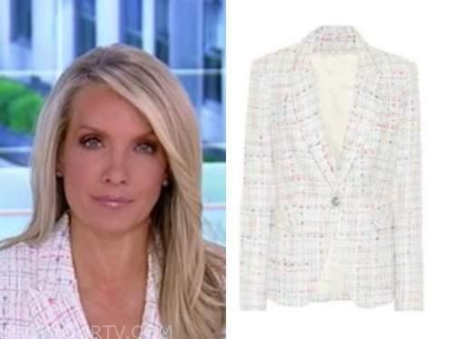 dana perino, america's newsroom, white tweed blazer