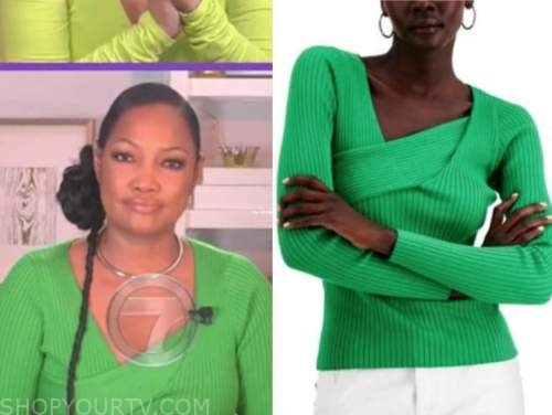 gabrielle beauvais, the real, green sweater