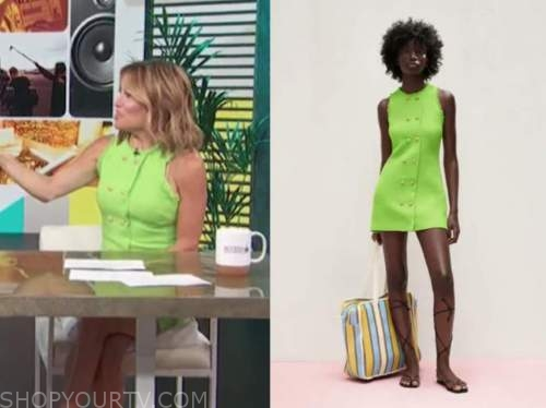 kit hoover, access daily, access hollywood, lime green tweed dress