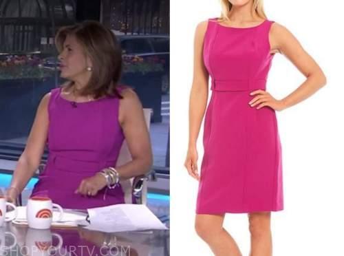 hoda kotb, the today show, magenta pink sheath dress