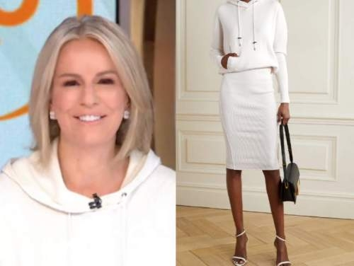 dr. jennifer ashton, white hooded knit dress, gma3, good morning america