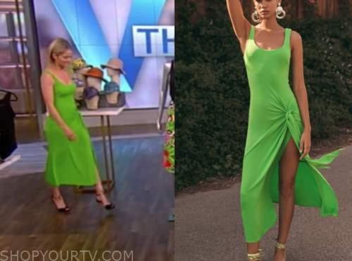 sara haines, the view, green midi dress