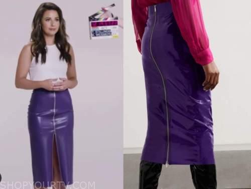 katie thurston, purple zip-front skirt, the bachelorette