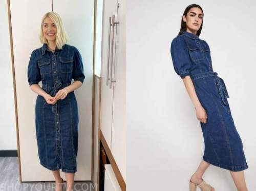 holly willoughby, this morning, denim shirt dress