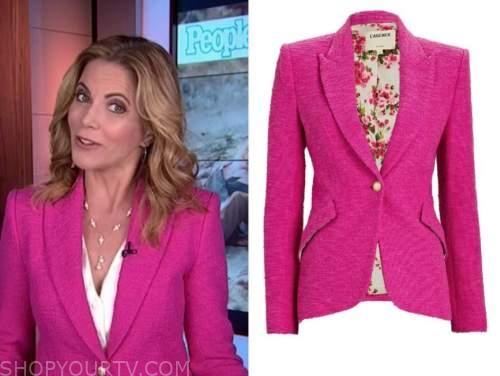 the today show, natalie morales, hot pink tweed blazer