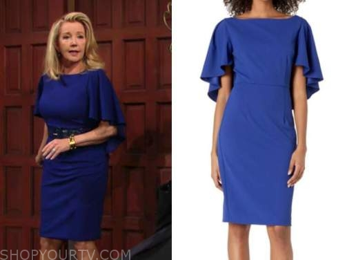 nikki newman, melody thomas scott, blue cape dress, the young and the restless