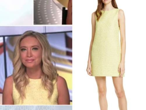Kayleigh McEnany, yellow shift tweed dress, outnumbered