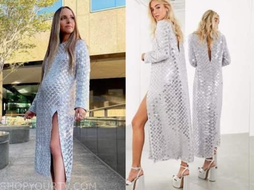 lilliana vazquez, E! news, daily pop, silver sequin dress
