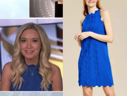 Kayleigh McEnany , blue scallop dress, outnumbered