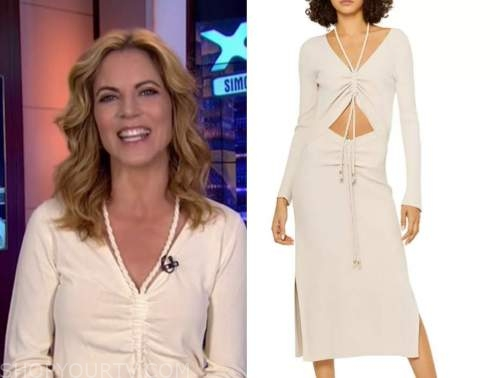 natalie morales, the today show, ivory ruched dress