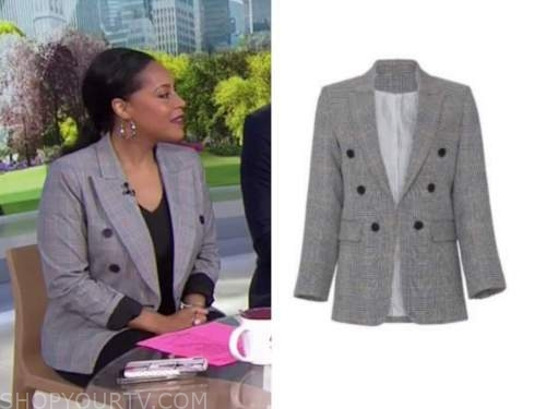 sheinelle jones, the today show, grey double breasted blazer