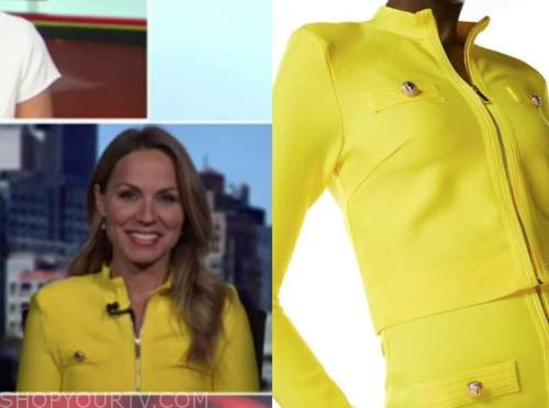 dr. nicole saphier, outnumbered, yellow military knit jacket