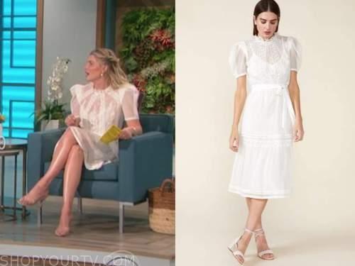 amanda kloots, the talk, white lace dress