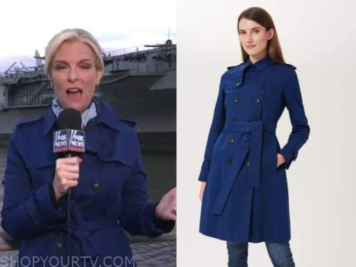 janice dean, blue trench coat, fox and friends