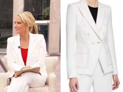 dana perino, america's newsroom, fox news, white double breasted blazer