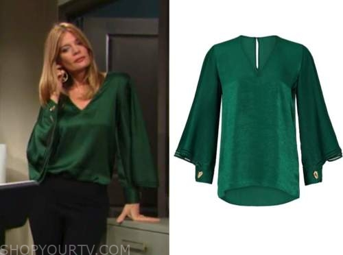 phyllis newman, michelle stafford, green blouse, the young and the restless