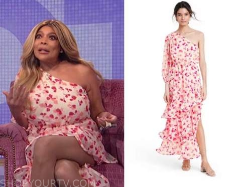 wendy williams, the wendy williams show, floral one-shoulder dress