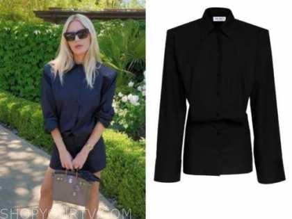 morgan stewart, black dress, instagram fashion