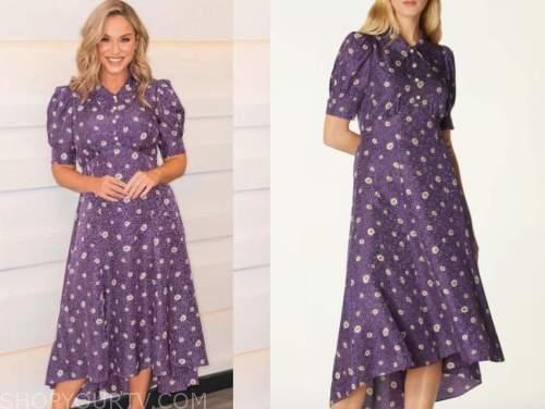 vicky pattison, this morning, purple floral midi dress