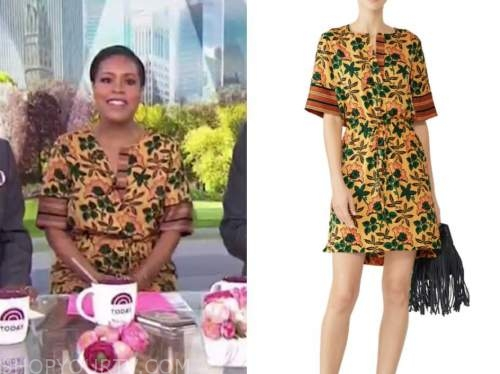 sheinelle jones, the today show, floral dress