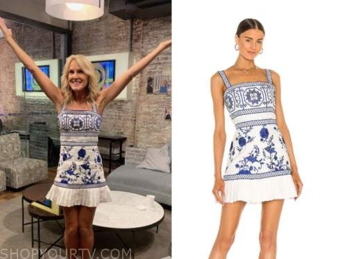 elin hilderbrand, blue and white dress, cbs this morning