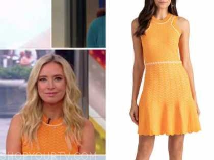 outnumbered, Kayleigh McEnany , orange knit dress