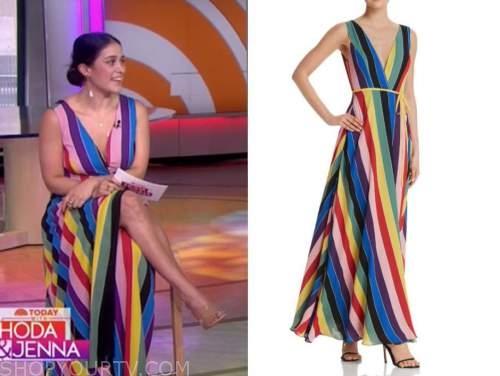 donna farizan, the today show, rainbow multicolor striped dress