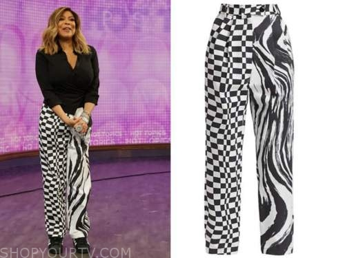 wendy williams, the wendy williams show, black and white printed pants