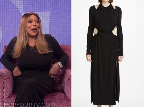 wendy williams, the wendy williams show, black cutout waist dress