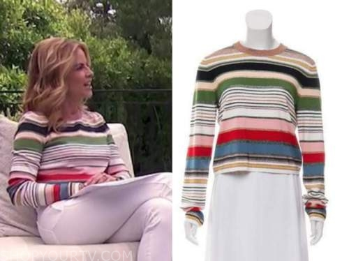 natalie morales, the today show, multicolor striped sweater