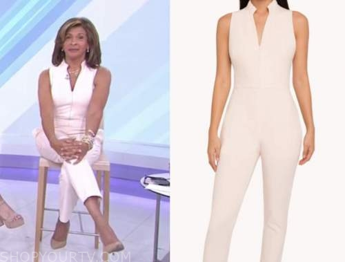 hoda kotb, the today show, ivory blush jumpsuit