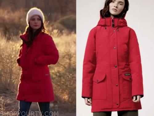 katie thurston, the bachelorette, red parka jacket