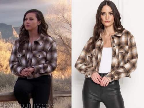 katie thurston, the bachelorette, plaid cropped jacket