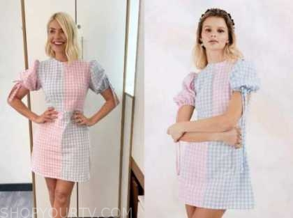 holly willoughby, gingham dress, this morning