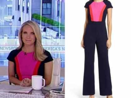 dana perino, america's newsroom, colorblock jumpsuit