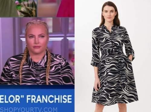 meghan mccain, the view, zebra print shirt dress