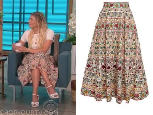 amanda kloots, the talk, floral skirt