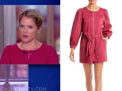 the view, sara haines, pink romper