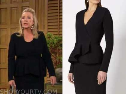 nikki newman, melody thomas scott, the young and the restless, black wrap jacket