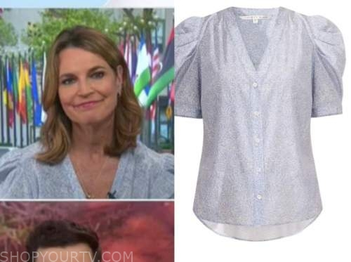 savannah guthrie, the today show, blue printed top